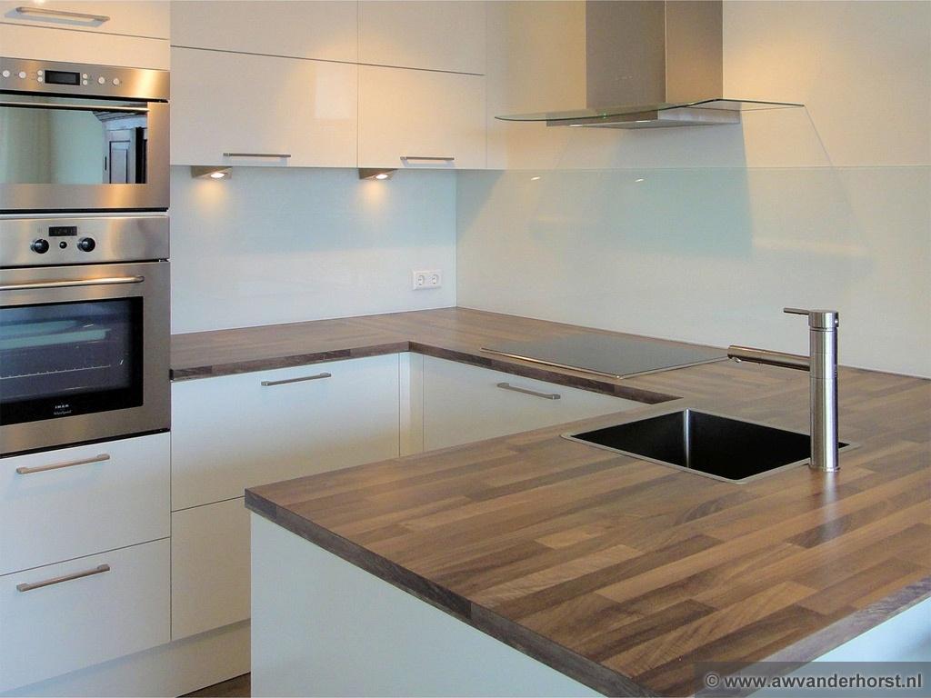 glasplaat monteren : Glazen Keuken Achterwand Glasplaat Achterwand