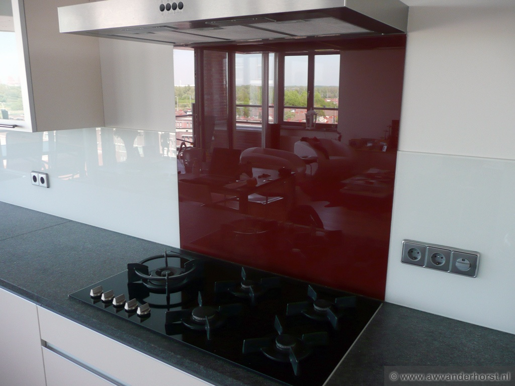 Keuken Plaat Achterwand : Glazen keuken achterwand glasplaat achterwand