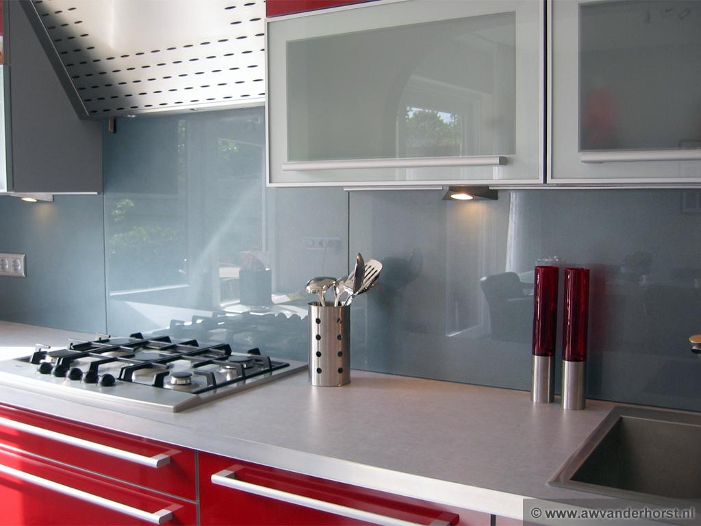 Glazen keuken achterwand glasplaat achterwand